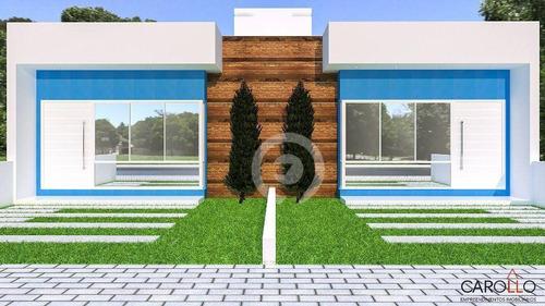 Imagem 1 de 7 de Casa Com 02 Dormitórios, Em Construção No Bairro Campo Grande - Ca1146