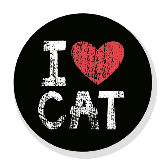 Quadro I Love Cat