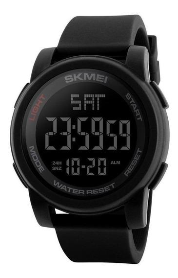 Relógio Masculino Skmei 1257 Preto Com Garantia Nota Fiscal