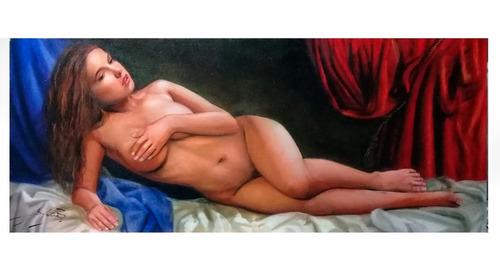 Deseo   -  Desnudo Pintado Al Oleo Sobre Lienzo
