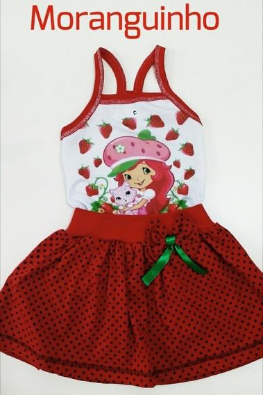 Vestido Moranguinho Infantil - Promoção