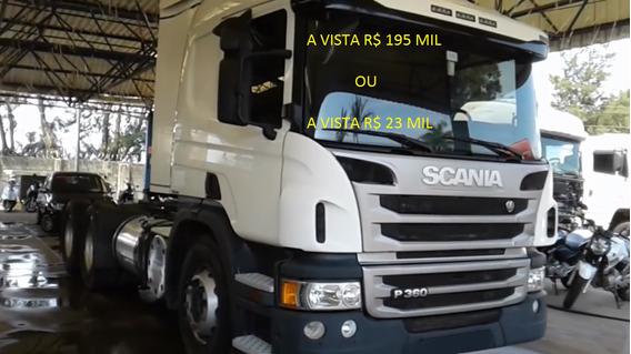 Scania P 360 6x4 Branco 2015