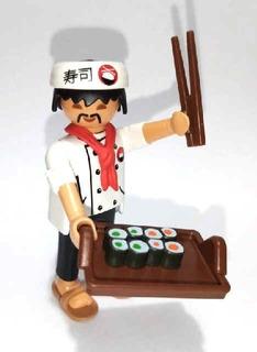 Playmobil Cocinero Japones Serie 13 Sobres Fotos Reales