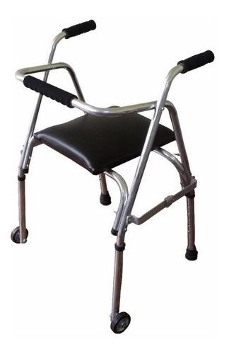 Andador Ortopedico Caminador Ancianos Con Asiento Ruedas ººº