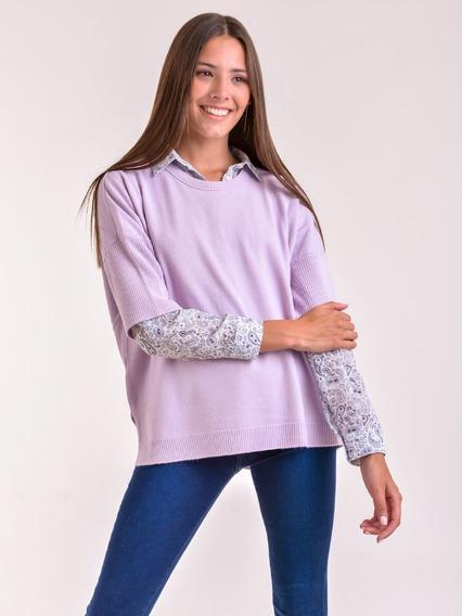 Sweater Cuello Redondo Hilado Cristal Mauro Sergio !