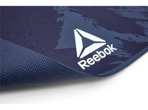 Colchoneta Yoga Mat 4mm Alfombra Mat De Yoga Azul Reebok
