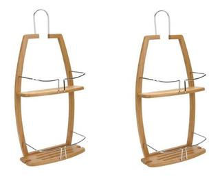 Organizador De Regadera Material Bambu 61 X 27 Cm 2 Piezas