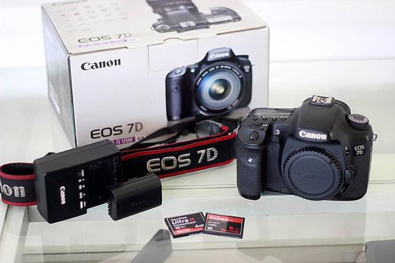 Canon 7d Só Corpo Semi Nova