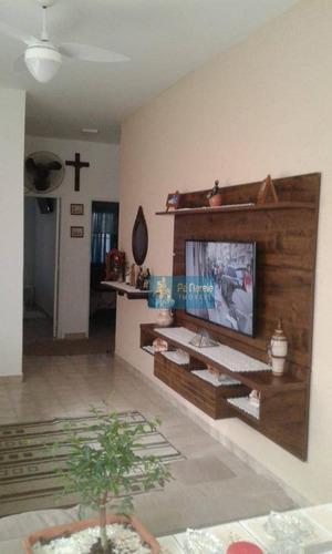 Casa Com 2 Dormitórios À Venda, 111 M² Por R$ 390.000 - Maracanã - Praia Grande/sp - Ca0195