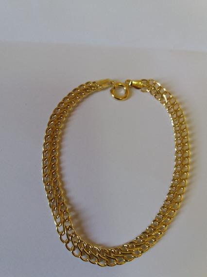 Pulseira Lacraia Em Ouro 18k750 Com 19.5 Cm De Comprimento