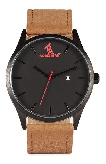 Relógio Analógico Bobo Bird G152 Marrom Aço Inox
