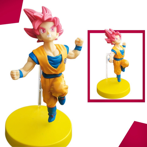 Dragon Ball Super Goku Ssj Dios Colección Figura Juguete