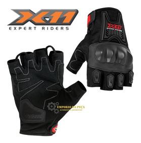 Luva X11 Blackout Verão 1/2 Dedo Mas Original Motociclista