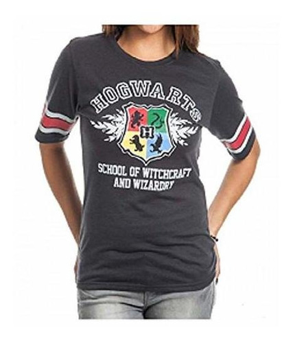 Camiseta De Hockey Negro De Harry Potter Hogwarts Juniors