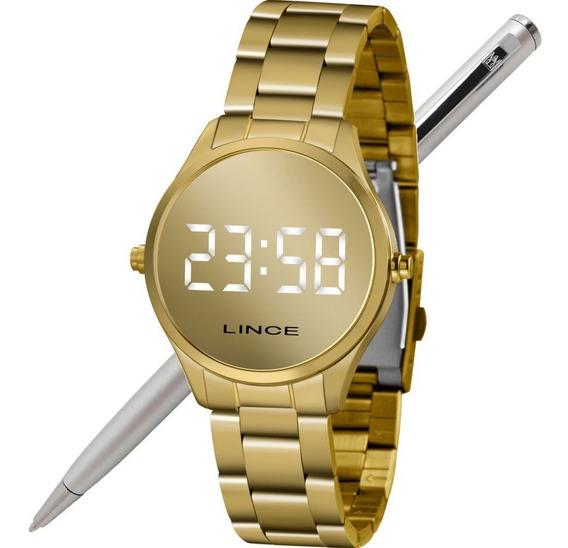 Relógio Lince Feminino Led Digital Mdg4617l Bxkx Led Branco