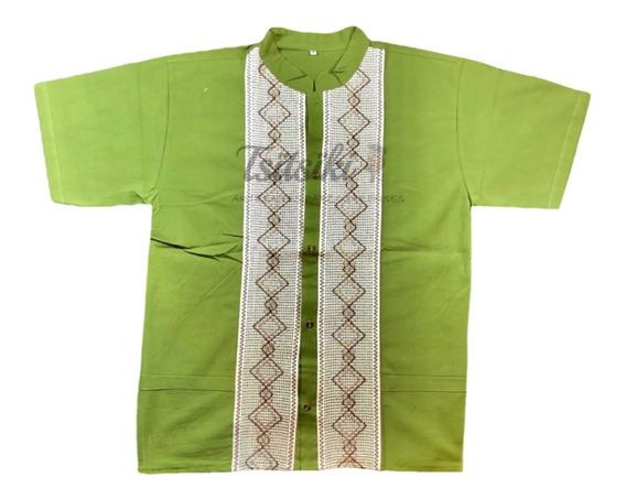 Camisa Guayabera Artesanal De Manta