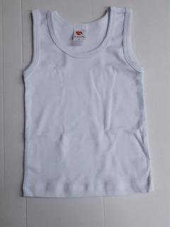 Set 6 Camiseta Blanca Niño Ramoncito Sin Manga 1 A 8 Años C