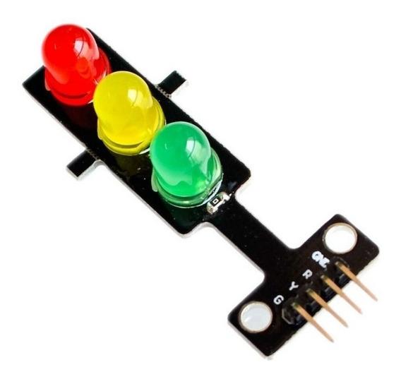 Modulo Semaforo Farol Led Sinal Transito 8mm Arduino Esp8266