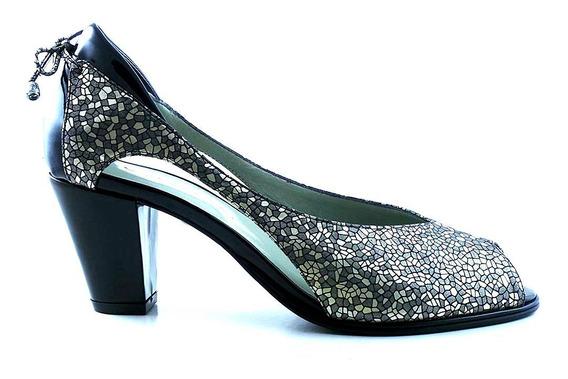Zapato Clásico Cuero Briganti Mujer Taco - Mccz03402 Ca