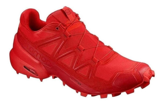 Tenis Salomon Speedcross 5 Rojo Running Dama Original Run24