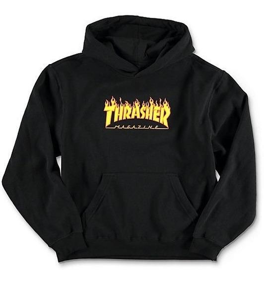 Sudadera Thrasher Flame Logo Hood Black
