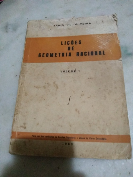 Lições De Geometria Racional Vol 1 Mário De Oliveira