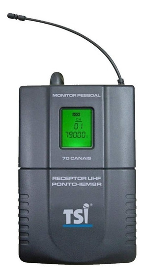 Receptor S/ Fio C/ Fone De Ouvido In-ear Ponto Iem 8 R - Tsi