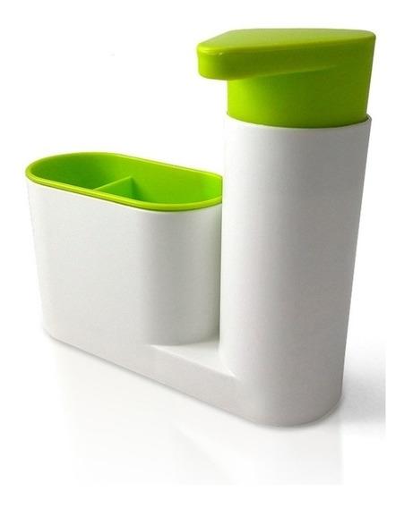 Dispenser Detergente Organizador Cocina Baño 2 En 1