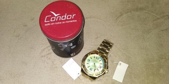 Relógio Condor Dourado Masculino