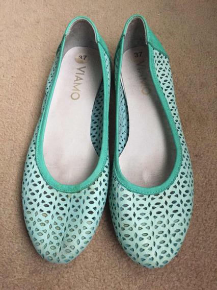 Zapatos Viamo Talle 37 Color Aqua