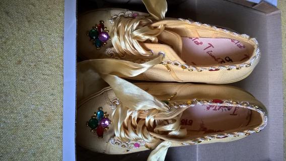 Zapatillas Dama Amarillas Impecables