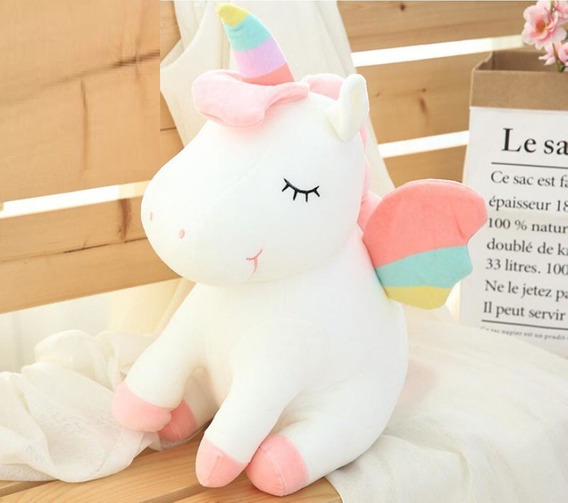 Lindo Urso De Pelúcia Presente De Natal Unicórnio Brinquedo