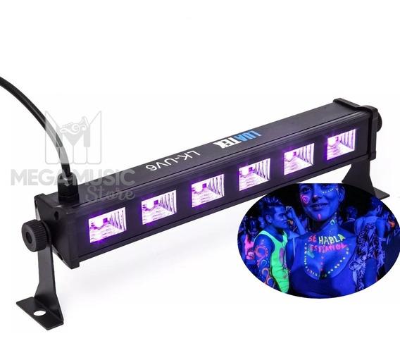 Luz Negra Ultravioleta Led Uv Projetor 20w Barra Lk-uv6