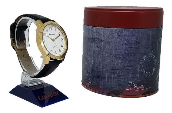 Relógio Masculino Condor Co2035aa/2b Pulseira Couro