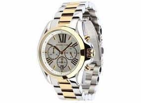 Relógio Michael Kors Dourado Com Prata