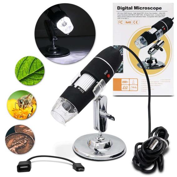 Microscópio Profissional Digital Zoom 500x Usb Câmera 2mp