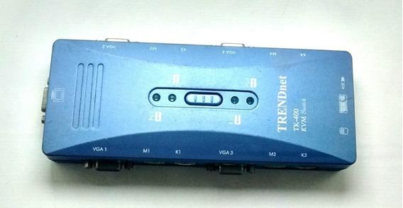 Chaveador Switch Trendnet Para 4 Servidores Kvm Usado