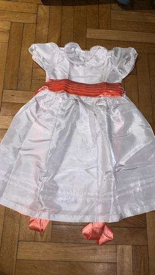 Vestido Cortejo Casamiento Nena Talle 2 Años