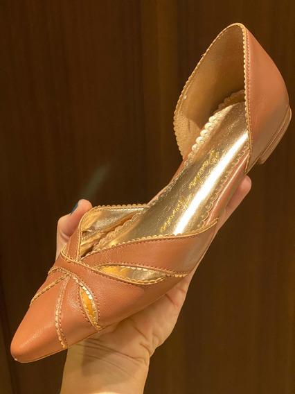 Zapatos Café Marca Paula Torres Talla 7