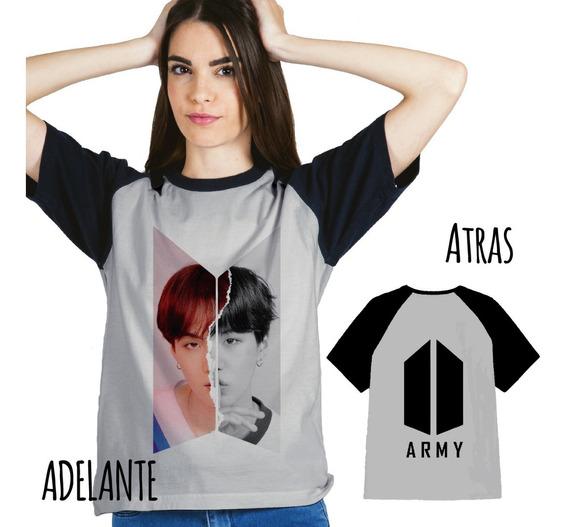 Remera Combinada Bts/army Sublimada (adelante Y Atrás) K-pop
