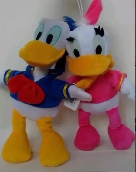 2 Pelúcias, Pato Donald E Margarida Tam: 30cm