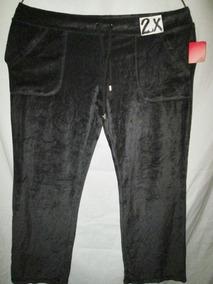 Pants Tipo Deportivo En Negro Talla 2x (38 /40 Mex)