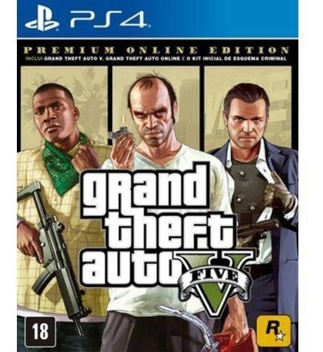 Ps4 Grand Theft Auto V 5 Gta 5 Mídia Física Novo Português