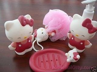 Set De Baño Hello Kitty