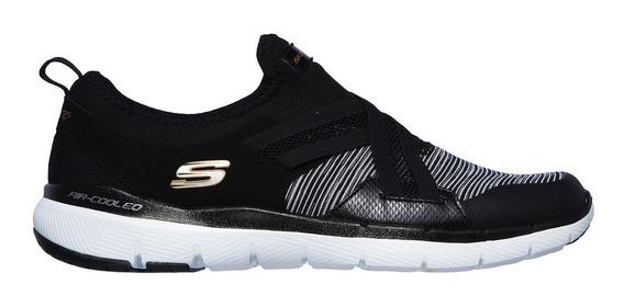 Skecher Zapatillas Running Mujer Flex Appeal 3.0 Negro