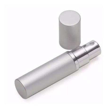 10 Porta Perfume 5ml Prata De Metal