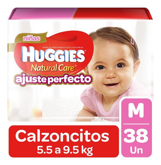 Pañales Huggies Pant Natural Care Niña 38 Un. Talla M