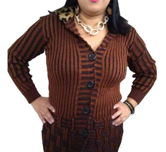 Blusa Feminina Frio Trico Tricot Comprida Roupas Femininas