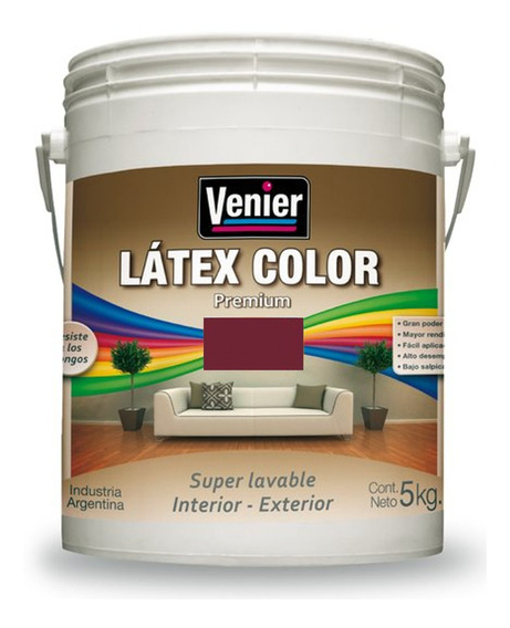 Latex Color Venier Premium Interior/ Exterior 5kg - Rex