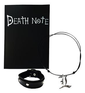 Death Note Caderno Morte Colar Pulseira Couro Anime Figura